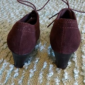 Clarks Shoes - Clarks Brown Suede Booties